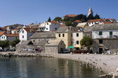 Little touristic town Primosten on Dalmatian coast in Croatia — Foto de Stock