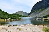 Lago das montanhas tatras ocidentais na Eslováquia, na — Fotografia Stock