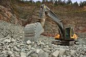 Extraction of stone in the quarry in Czech Republic, village Predklasteri — Stock Photo