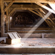 Stock Photo: Old attic of house, hidden secrets