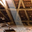 Stock Photo: Old attic of a house, hidden secrets