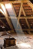 Old attic of a house, hidden secrets — Stock Photo