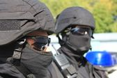 Two policemen, a special unit — Stock Photo