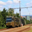 Public transport in Brno in the Czech Republic, the route to the city of Bohunice — Stock Photo