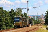 öffentliche verkehrsmittel in brünn in der tschechischen republik, der weg in die stadt von bohunice — Stockfoto