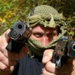 Armed and dangerous terrorist, detail - Stock Photo