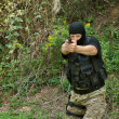 Special Forces soldier, armed terrorist — Stock Photo #22458061