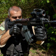 "Stok fotoğraf: Special Forces soldier with assault rifle ""sa.58"""