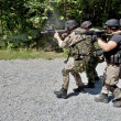 Stock Photo: Special police unit in training