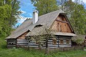 """Folk museum """"Vesely Kopec"""" in Czech Republic, folk architecture, typical rural building in the highlands, water mill — Stock Photo"""