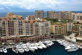 MONACO, JUne 26, 2014: Fontvieille, new district of Monaco.  view of marina. Cote d'Azur. — Stock Photo