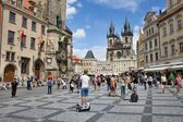 Prague, Czech Republic - July 14, 2014: View of the Old Town of Prague Astronomical Clock — Stock Photo
