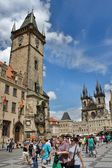 View of the Old Town of Prague Astronomical Clock — Stock Photo