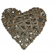 Heart made of wicker, labyrinth heart, holiday VALENTINES DAY — Stock Photo #50646913