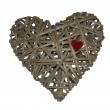 Heart made of wicker, labyrinth heart, holiday VALENTINES DAY — Stock Photo #50646917
