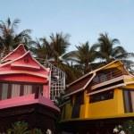 Boat houses, Haad Rin, Thailand — Stock Photo #21266053
