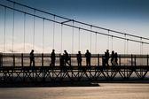 Crossing a bridge — Stock Photo