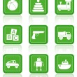 Royalty-Free Stock ベクターイメージ: Baby toys. Vector icons.