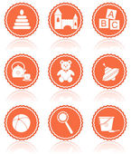 Baby toys. Vector icons. — Stock Vector