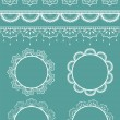Set of vector lace ribbons and frames. — Stock Vector