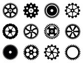 Cogwheels (gear wheels) of different design. — Vector de stock
