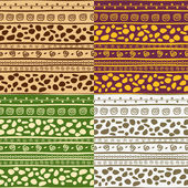 African seamless patterns — Stock Vector
