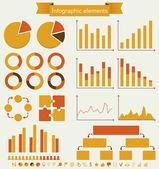 Ретро набор инфографики элементов. — Cтоковый вектор