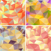 Multicolored geometric backgrounds. — Stock Vector