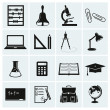 Stock Vector: School and education icons.