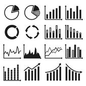 Infographic icons - charts and graphs. — Stock Vector