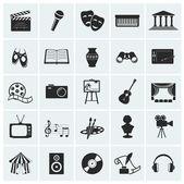 Raccolta di icone arte vettoriale. — Vettoriale Stock