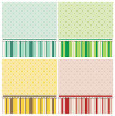 Cute backgrounds in different colors. — Stock Vector