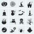 Set of vector halloween icons. — Vettoriale Stock