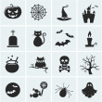 Set of vector halloween icons. — Stock Vector