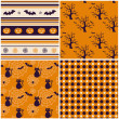 Halloween backgrounds. Vector illustration. — Stock Vector
