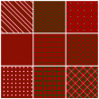 Christmas seamless patterns. Vector set 2. — Stock Vector #32329283