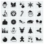 icônes de Noël. illustration vectorielle — Vecteur