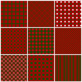 Christmas seamless patterns. Vector set 1. — Stock Vector