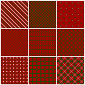 Christmas seamless patterns. Vector set 2. — Stock Vector