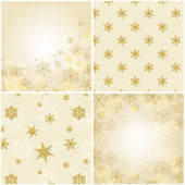 Set of christmas backgrounds with snowflakes. — Stock Vector