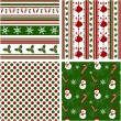 Christmas seamless patterns. Vector illustration. — Stok Vektör