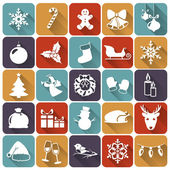 Christmas flat icons. Vector illustration. — Stock Vector