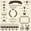 Collection of christmas design elements. Vector illustration. — Stok Vektör