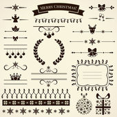 Collection of christmas design elements. Vector illustration. — Stock Vector