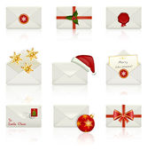 Set of vector icons: Christmas envelopes. — Stock Vector