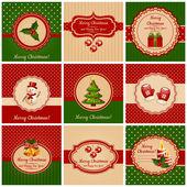 Kerstkaarten. vectorillustratie. — Stockvector