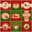Christmas cards. Vector illustration. — Vettoriali Stock
