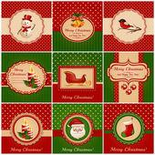 Christmas cards. Vector illustration. — Stock Vector