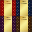 Christmas cards with gold banners. Vector illustration. — Stock Vector