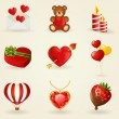 Vector set of love and romantic icons. — Stock Vector